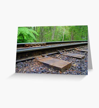Puffing Billy on Track Greeting Card