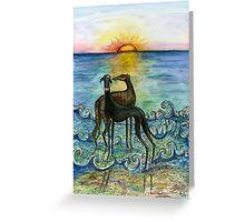Sunset and True Love Greeting Card