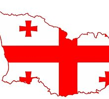 Georgia Flag Map by abbeyz71