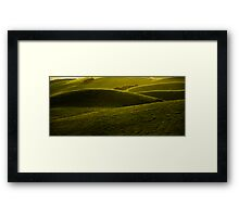 Green Folds Framed Print