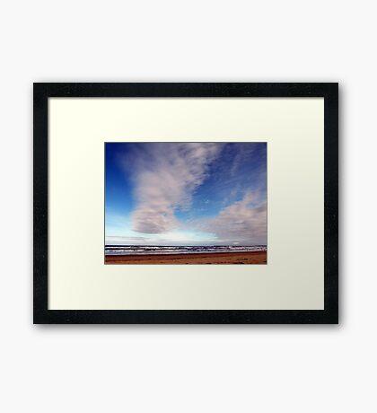 Beach Clouds Framed Print