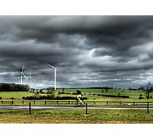 Lone Cyclist Photographic Print