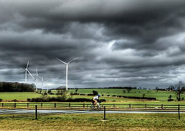 Lone Cyclist by cazjeff1958