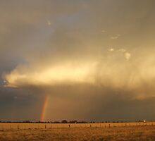 Rainbow sunset by Tim Eckert
