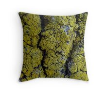 green fuzz Throw Pillow