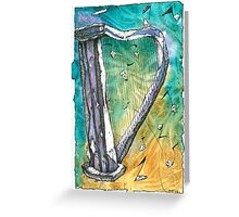 Harp Notes Greeting Card