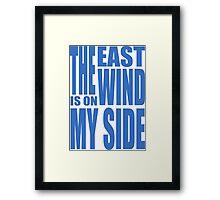 BBC Sherlock - East Wind tee Framed Print