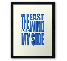 BBC Sherlock - the East Wind  Framed Print