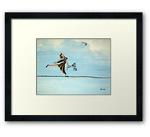 BALANCE IS A THING OF BEAUTY Framed Print