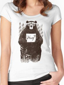 Free Bear Hugs Women's Fitted Scoop T-Shirt