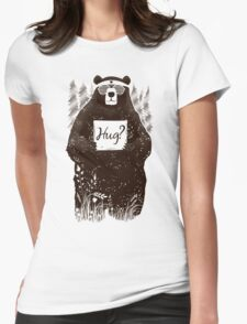 Free Bear Hugs Womens Fitted T-Shirt