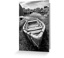 Abandoned Boat Greeting Card