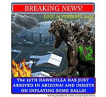 THE 12th HAWKZILLA aka THE 12th GODZILLA Photographic Print