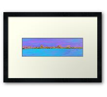 Sky, Shore, and Sea Framed Print