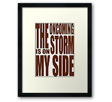 Doctor Who - Oncoming Storm tee Framed Print