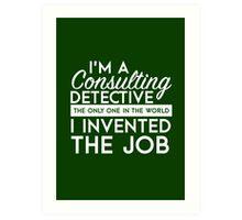 Sherlock - Consulting detective Art Print