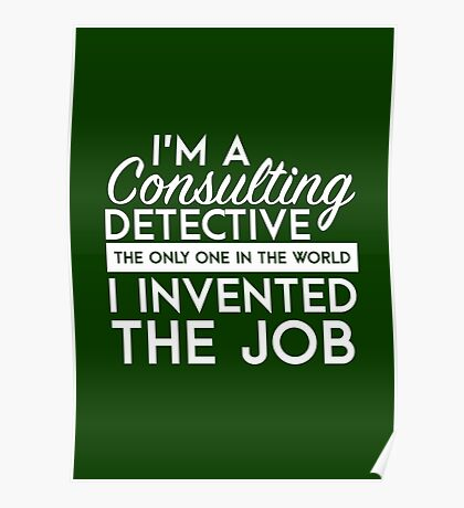 Sherlock - Consulting detective Poster