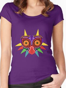 Majora's Mask Vector Women's Fitted Scoop T-Shirt