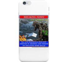THE 12th HAWKZILLA aka THE 12th GODZILLA iPhone Case/Skin