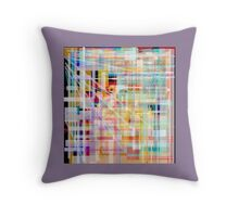 Pastel dusty mauve, Shaded, block abstract, PLAID art design Throw Pillow