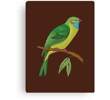 green domestic bird 2 Canvas Print