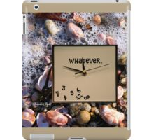 Tides Turn, Time Forever Flees Away iPad Case/Skin