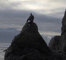 hubby at oregon coast by lisalemp