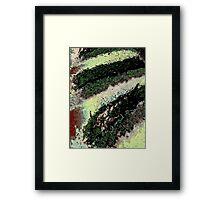 Modern moss, abstract, photo art Framed Print