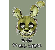 FIVE NIGHTS AT FREDDY'S 3- SPRINGTRAP Photographic Print