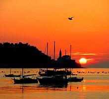 Sunset in Piran by Béla Török