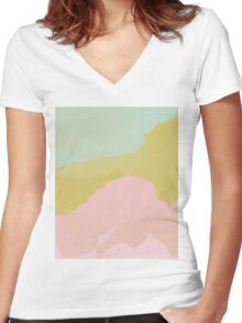 Pastels Women's Fitted V-Neck T-Shirt