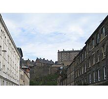 Edinburgh Castle from Cornwall Street Photographic Print