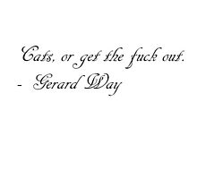 Cats, or get the fuck out. - Gerard Way by apple13
