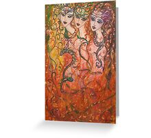 The Fire Reverie Greeting Card