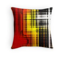 Burning Stained Glass Throw Pillow