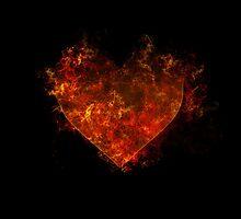 Flaming heart  by krisalanapparel