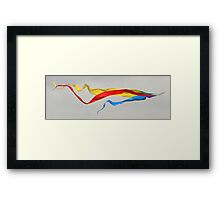 Air Writing Framed Print