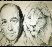 C.S. Lewis drawing by RobCrandall