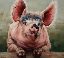 Friendly Pig by Margaret Stockdale