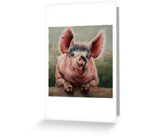Friendly Pig Greeting Card