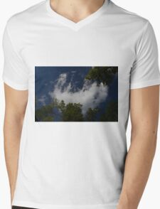 Clouds and Trees Mens V-Neck T-Shirt