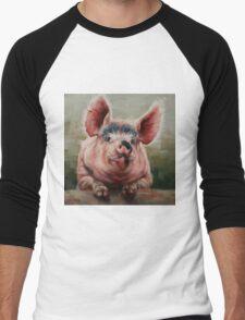 Friendly Pig Men's Baseball ¾ T-Shirt