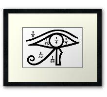 Eye of Horus, Heqat, Fractional Numbers, Egypt Framed Print