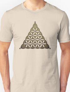 Flower Of Llife, Sacred Geometry, Crop Circle, Triangle Unisex T-Shirt