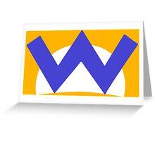Wario W Greeting Card