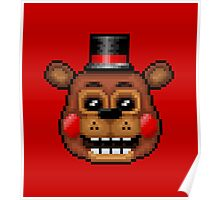 Five Nights at Freddy's 2 - Pixel art - Toy Freddy Poster
