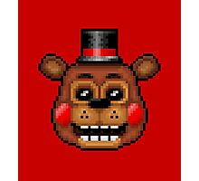 Five Nights at Freddy's 2 - Pixel art - Toy Freddy Photographic Print