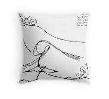 Water Wind Throw Pillow