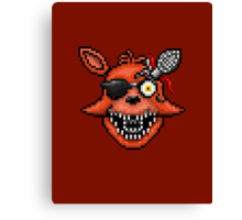 Five Nights at Freddy's 2 - Pixel art - Foxy Canvas Print