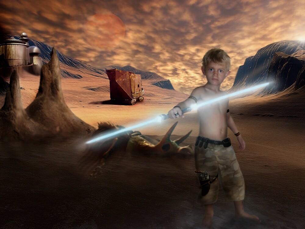 Padawan Training Tatooine by Cliff Vestergaard